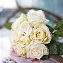 Искусственные цветы и букеты роз, пионов для свадьбы, интерьера