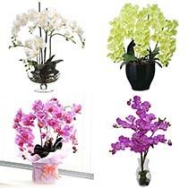Искусственные орхидеи фаленопсис для декора интерьера
