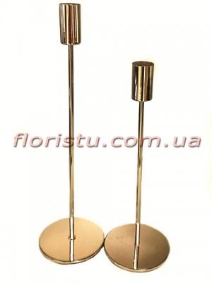 Набор металлических подсвечников Золото 2 шт.