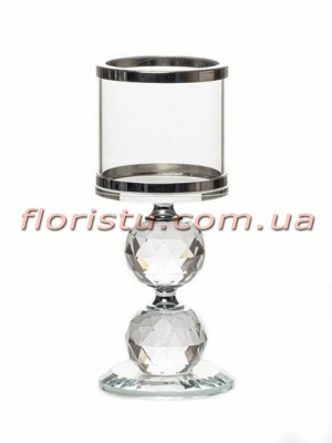 Подсвечник стеклянный Ring Star 16 см