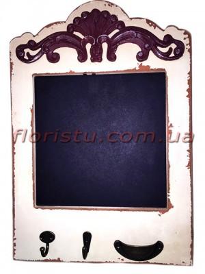 Доска для записей с крючками Винтаж 45/30 см