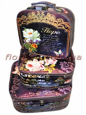 Набор декоративных чемоданчиков Винтаж HOPE 3 шт.