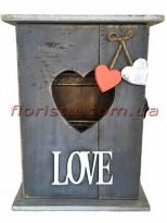LOVE Ключница деревянная 26*20 см