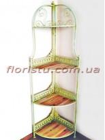 Этажерка угловая раскладная Винтаж 4 полочки 170 см