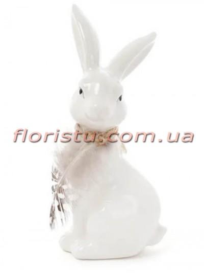 Керамическая фигурка Кролик белый 14 см