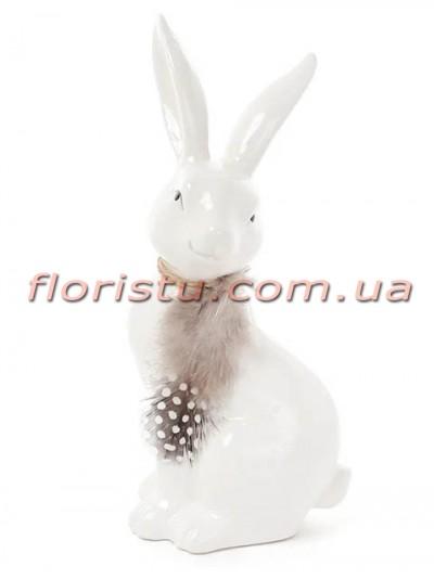 Керамическая фигурка Кролик белый 9 см