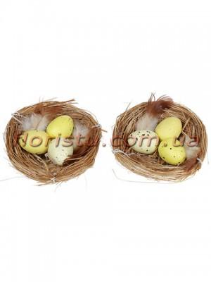 Гнездышки пасхальные декоративные набор 2 шт. по 8 см