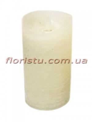 LED-свеча белого цвета с имитацией пламени 15*7,5 см