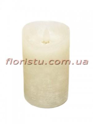 LED-свеча белого цвета с имитацией пламени 12*7,5 см