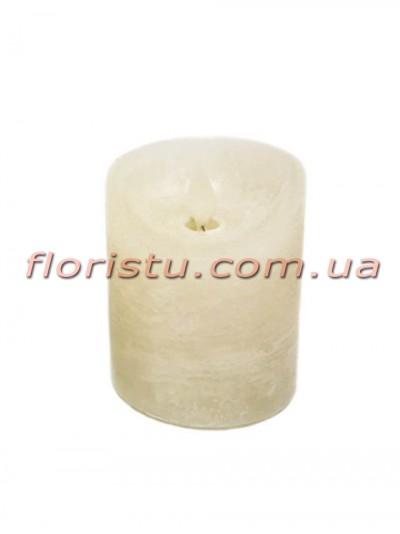 LED-свеча белого цвета с имитацией пламени 10*7,5 см