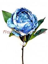 Пион новогодний Голубой премиум класса 56 см гол. 10 см