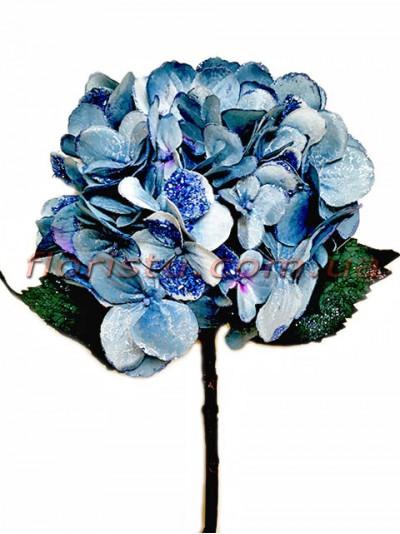 Гортензия новогодняя Голубая премиум класса 53 см гол. 16 см