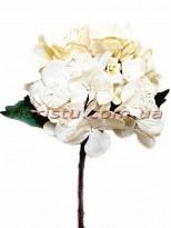 Гортензия новогодняя Нежно-кремовая премиум класса 53 см гол. 16 см