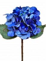 Гортензия новогодняя Синяя премиум класса 53 см гол. 16 см