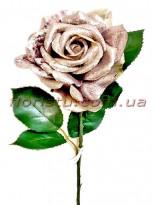 Роза новогодняя Серебро премиум класса 55 см гол. 12 см