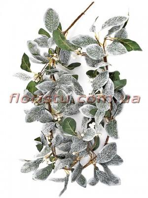 Омела с белыми ягодами новогодняя лиана премиум класса 155 см