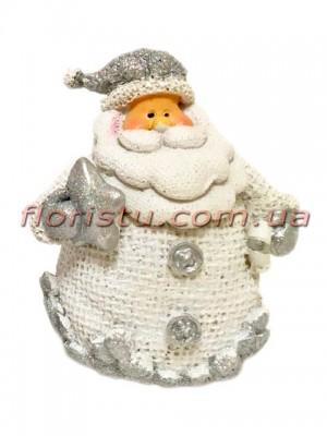Новогодняя фигурка полистоун Санта со звездочкой 8 см