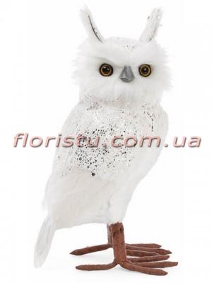 Новогодняя фигура Сова Белая 30 см