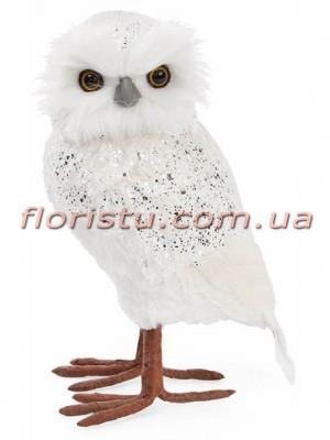 Новогодняя фигура Сова Белая 28 см