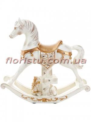 Декоративная статуэтка из полистоуна Лошадь с LED-подсветкой 35 см