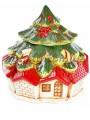 Новогодний домик для сладостей керамический 22 см