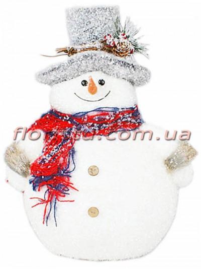 Новогодний декор Снеговик 32 см