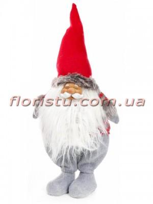 Новогодняя фигура Гном в красной шапке 59 см