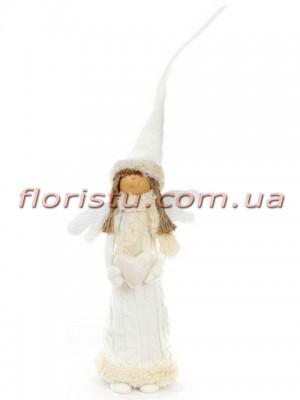 Новогодняя мягкая игрушка Ангел девочка 67 см