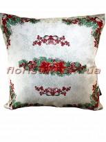 Новогодняя гобеленовая подушка EMILY HOME 45*45 см №6 Серебро