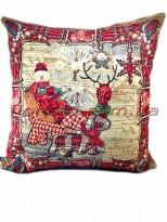 Новогодняя гобеленовая подушка EMILY HOME 45*45 см №7