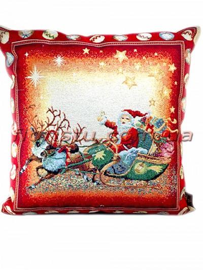 Новогодняя гобеленовая подушка EMILY HOME 45*45 см №14