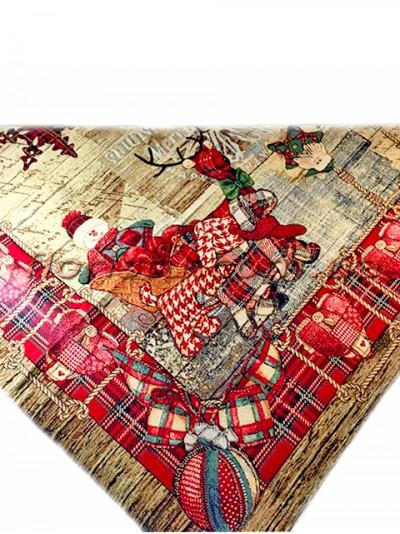 Новогодняя гобеленовая скатерть EMILY HOME 140*220 см №7
