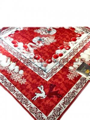 Новогодняя гобеленовая скатерть EMILY HOME 90*90 см №4