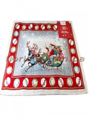 Новогодняя гобеленовая салфетка EMILY HOME 35*45 см №15