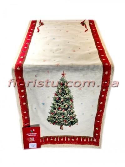 Новогодняя гобеленовая скатерть-раннер EMILY HOME 45*140 см №9