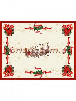 Новогодняя гобеленовая салфетка EMILY HOME 35*45 см №12