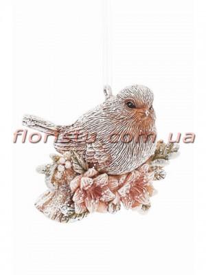 Декоративная статуэтка-подвеска Птичка на ветке 6см №1