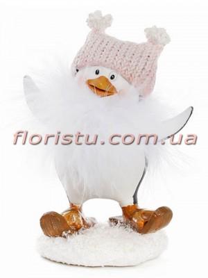 Статуэтка новогодняя Пингвин в шапке 13 см