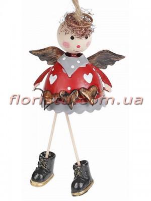 Новогодний подвесной декор Ангел 11 см №2