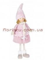 Новогодняя мягкая игрушка Девочка в юбке 59 см