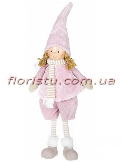 Новогодняя мягкая игрушка Девочка в шортах 59 см