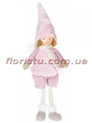 Новогодняя мягкая игрушка Девочка в шортах 48 см