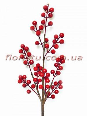 Ветка с красными ягодами 60 см
