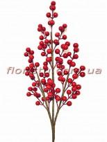 Ветка с красными ягодами 70 см