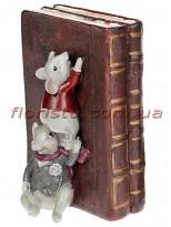 Декоративный держатель для книг Мышки-библиотекари 18 см №1