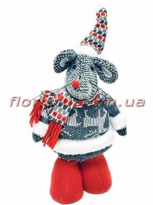 Новогодняя мышка в свитере 30 см №2