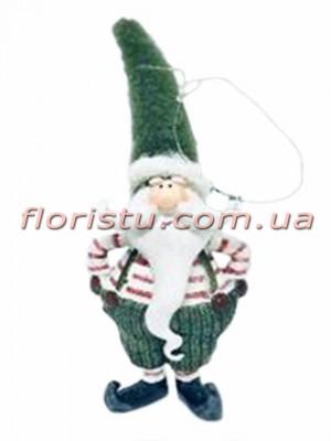Новогодняя фигурка-подвеска из полистоуна Санта 17 см