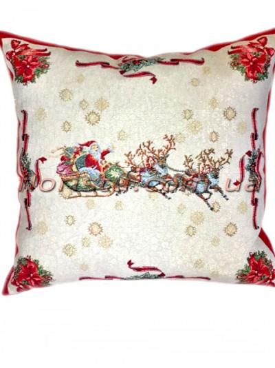 Новогодняя гобеленовая подушка EMILY HOME 45*45 см №12
