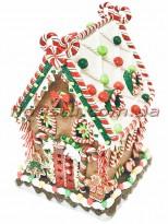 Новогодняя фигура из полистоуна Пряничный домик 35 см