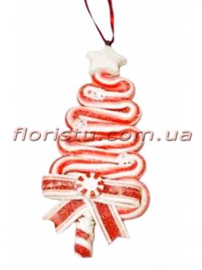 Новогодний подвесной декор из полистоуна Леденец 13 см №3